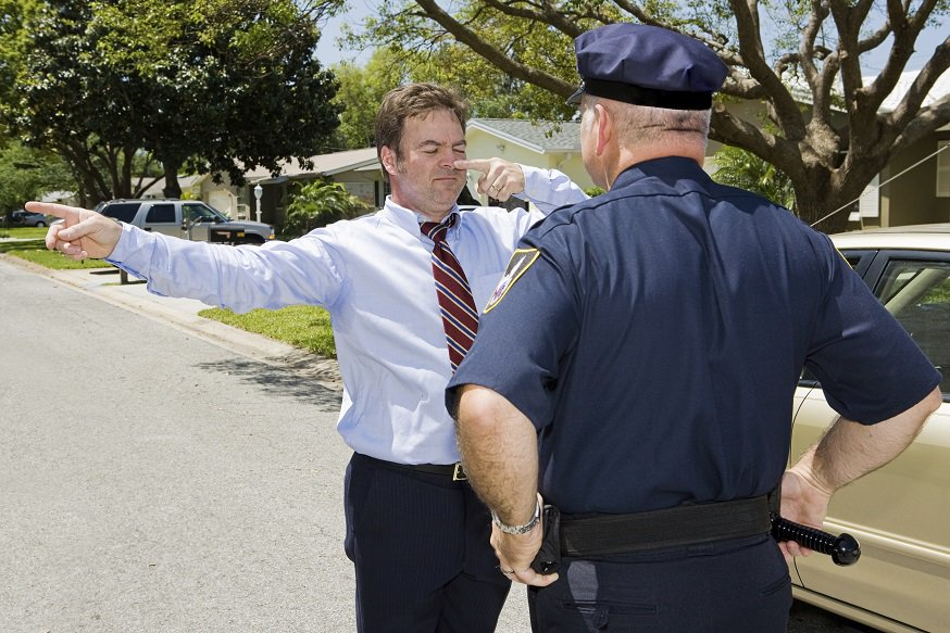 Field Sobriety Tests during a DUI arrest